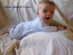 7 tips for making tummy time a little less . . . um . . . miserable. #OTtips #babies #childdevelopment