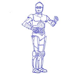 Learn how to draw Star Wars characters with our series of special tutorials. This time is time to learn how to draw the robot C3-PO.