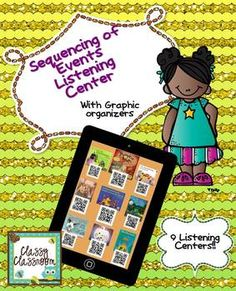 Sequence of Events Listening Center QR Codes with Graphic