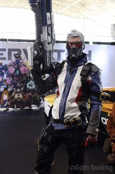 Overwatch Day Soldier 76 Cosplay Halloween Cosplay $139