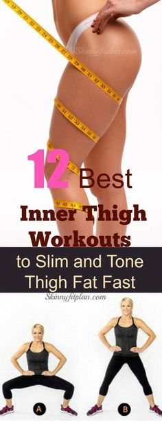 12 Best Inner Thigh Workout to Slim and Tone Thigh Fat is part of home Workout Fat Burning - What are the best inner thigh exercises Discover here the 12 best inner thigh workout to slim and tone thigh fat fast at home in less than 7 days Burn Arm Fat, Lose Back Fat, Burn Belly Fat, Lose Fat, Workout To Lose Weight Fast, Weight Loss Workout Plan, How To Lose Weight Fast, Losing Weight, Inner Thight Workout