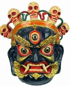Shamanic masks are exorcising and funeral masks derived from the totem worshipping of ethnic minorities in north China and the shamanic culture.