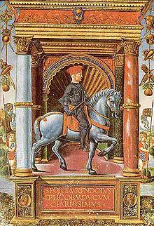 Muzio Attendolo Sforza, 15th century miniature Calendario Chino, Art De La Renaissance, Plaza De Toros, Renacimiento, Figuras De, Caballos, Figurativo, Miniaturas, Imprimir Sobres