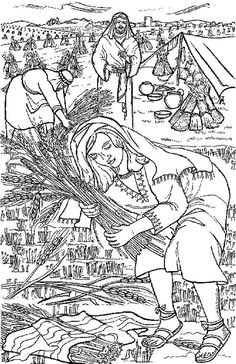 Free Ruth In The Bible Coloring Pages