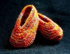 Magic Slippers pattern by Caroline Hegwer- Great use for scrap yarn