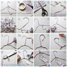 i saw this DIY and it immediately reminded me of free people- fabric covered hangers! i have a bunch of plain old wire hangers in my closet and i think they are in need of a makeover. all you nee… Coat Hanger, Clothes Hanger, Fabric Covered Hangers, Deco Dyi, Hanger Crafts, Free People Blog, Do It Yourself Fashion, Idee Diy, Wire Hangers