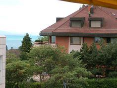 vista para o lago da varanda de casa, Pully