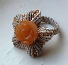 Macrame ring (love it)