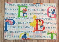 Vintage Sesame Street Alphabet Twin Flat Sheet J P Steven Elmo Bert Fabric | Home & Garden, Bedding, Sheets & Pillowcases | eBay!