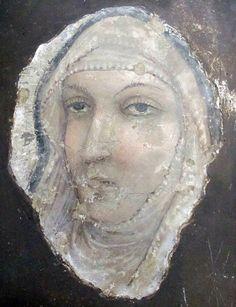 Anonimo di Scuola riminese - Volto di una Santa - affresco staccato - Museo della Città di Rimini