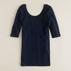 J.Crew+-+Perfect-fit+ballet+button+tee White, navy, pink