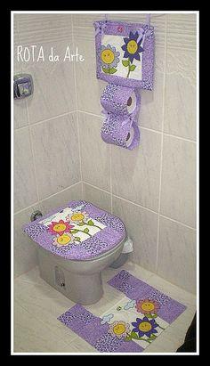 banheiro florido