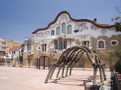 Can Negre, Sant Joan Despí - One of the biggest landmarks in Sant Joan Despí is this magnificent Art Nouveau building by Josep Maria Jujol #art #architecture #building #landmark #bcnmoltmes #baixllobregat
