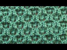 Ажурный узор Вязание спицами Видеоуроки - YouTube