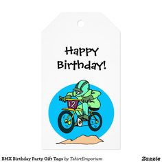 BMX Birthday Party Gift Tags