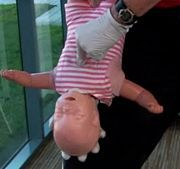 How to do First Aid on a choking baby; yikes. Guess we should know this.