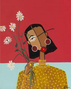Black Artists, Portrait Art, Art World, Art Paintings, Female Art, Art Inspo, Line Art, Cool Art, Original Artwork
