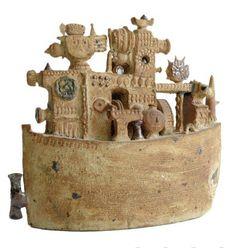 'Ark' -- An Important Ceramic Sculpture by Stig Lindberg