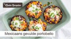 Mexciaans gevulde portobello's