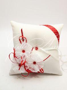 Свадебная подушечка для колец Gilliann Red Retro PIL263, http://www.wedstyle.su/katalog/pillow, ring pillow, wedding pillow
