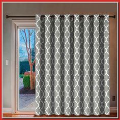 Enjoy exclusive for H.Versailtex Blackout Printed Curtains Extra Long Wide Thermal Insulated Panels -Grommet Wider Curtain Large Size 100 W 84 L Patio Door – Moroccan Tile Quatrefoil Pattern Dove, Set 1 online – Topusashoppingsites - Modern Sliding Door Curtains, Patio Door Curtains, Wide Curtains, French Door Curtains, Printed Curtains, Sliding Patio Doors, Sliding Glass Door, Country Curtains, Patio Door Valance Ideas