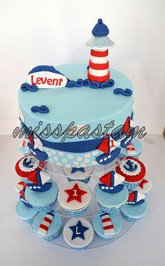 sailor cake and cupcake