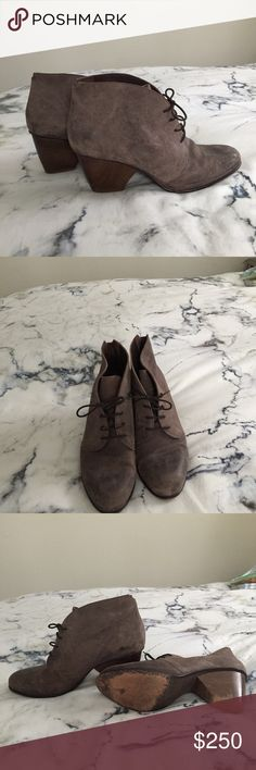 Coclico Lace-Up Booties Contact me at 9045244695 before buying, but you can still buy here ! Leather booties worn twice, but I don't have a box for them. They are so comfortable and are easy to walk on because of the thicker heel. Coclico Shoes Ankle Boots & Booties