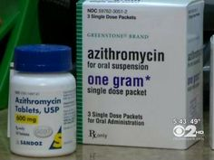More than 40 million prescriptions a year are written for azithromycin, for everything from bronchitis to urinary tract and skin infections. (NOTE: Especially during the cold & flu season) If you have a heart concern of any kind, be sure to let your doctor know before he/she prescribes an antibiotic.                 .