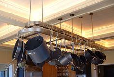 Custom Made Large Custom Metal Pot Rack by Heritage Metalworks