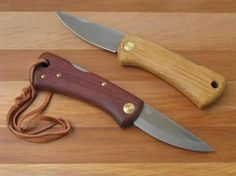 EKA Swede 88SS Locking Knife with Bubinga or Oak Handle