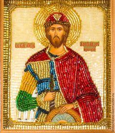 Купить Икона св. благоверного князя Александра Невского - икона в подарок, подарок мужчине, Пасха