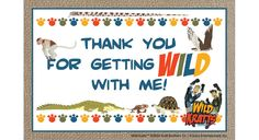 Wild Kratts Thank You Card - http://www.pbs.org/parents/birthday-parties/wild-kratts-birthday-party/printables/wild-kratts-thank-card/