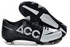 best website 21f21 ab34a Chaussures de foot nike GS Vert Speed Concept II ACC FG Blanc Noir pas cher