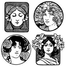 Art Nouveau and Art Deco Women