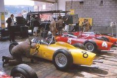 Ferrari team , Spa 1961. (Ferrari 156)