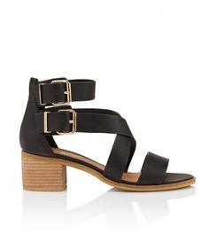Blue Jean Baby - Steph Block Heel Sandal - Shoes - Sportsgirl