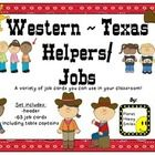 Yee-Haw!!! This is a set of 63 jobs in a Western/Cowboy theme that your students might have in your classroom. There is a header that you can put ...