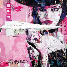 Loving this piece by Derek Gores!  'Straight to Your Heart' available at Thinkspace Gallery, Los Angeles.