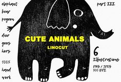 Cute animals pt III by Mii Lab on @creativemarket