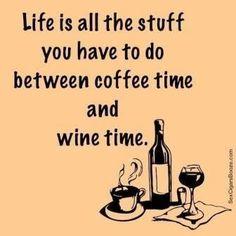 Life is all the stuff between coffee & wine {wineglasswriter.com/}