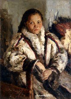 Игошев Владимир Александрович (Россия, 1921-2007) «Портрет У.Самбиндаловой»