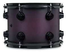 Dw drums collector series hard satin 0 purple to black burst with black chrome hardware, its so beautiful
