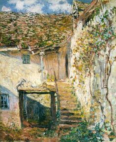 Claude Monet - The stairs never used black or white paint (not actual colors)