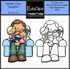 Father's Day Graphic by Educlips Father's Day Clip Art, Father's Day Activities, 2 Clipart, Coding For Kids, Dad Day, Gifted Kids, Black N White Images, Good Good Father, Happy Father