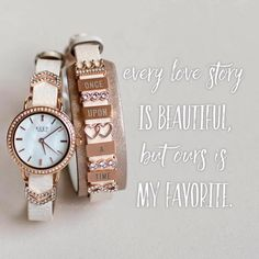 Keep Collective rose gold love story watch and engravable