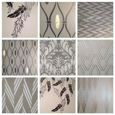 Royal Design Studio Africa inspired stencil patterns in Raven + Lily's new Austin, TX storefront