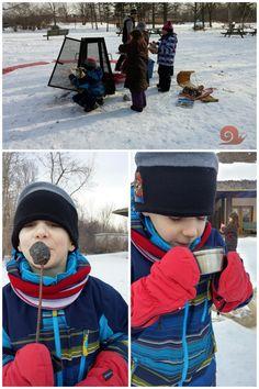 Sortie d'hiver - Animation Guepe - sport et plaisir d'hiver - feu d'hiver - Parc nature #homeschooling #escargot et coquille #sporthiver #pleinair #parcnature