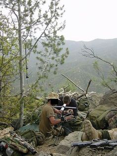 SBS LUP(laying up position) in Afghanistan.
