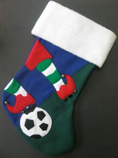 Sports Christmas Stocking Baseball Soccer by ImpulsiveCreativity ...