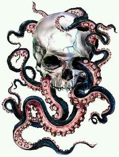 Amazing Octopus and Skull Tattoos